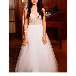 White Wedding Maxi Lace Dress